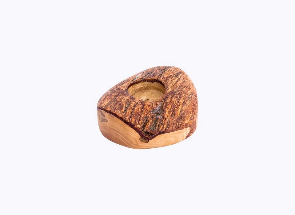 Rustic-Candle-Holder-1hole-olive-wood-satix