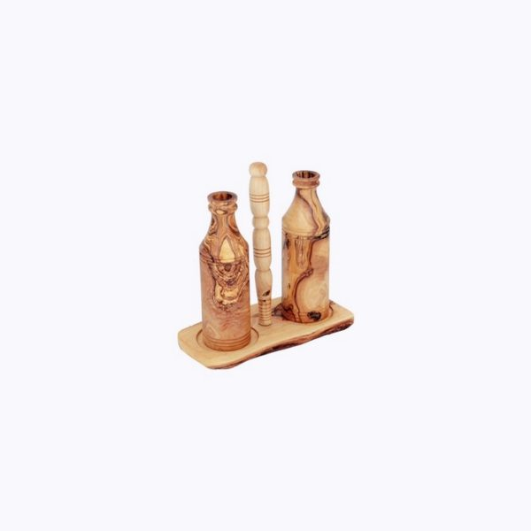 Oil-and-vinegar-Holder-olive-wood-holder