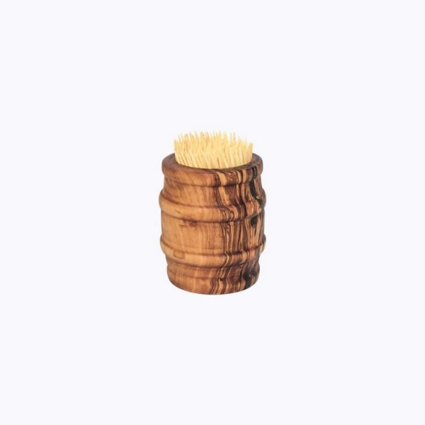 Cask-Toothpick-Holder-olive-wood-satix