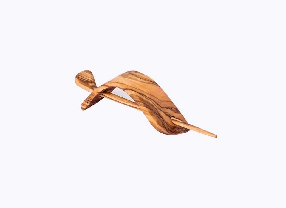 Hair-clip-olive-wood-satix