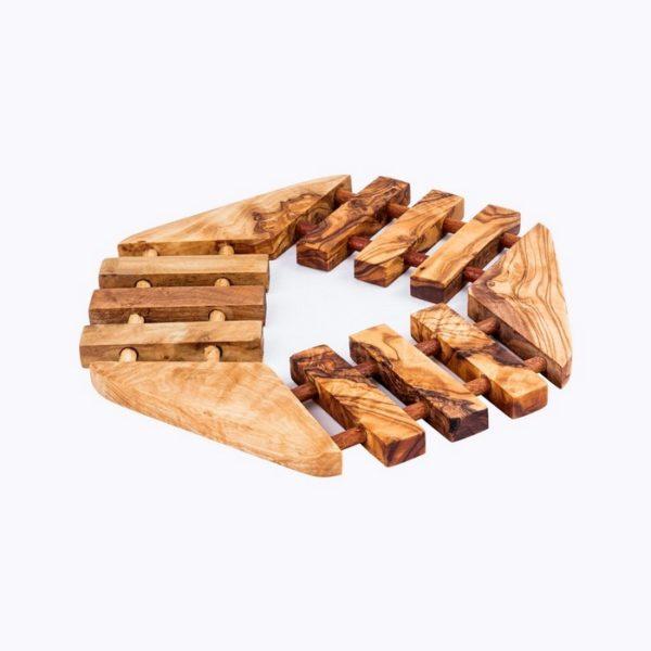 Hexagonal-Trivet-olive-wood-satix