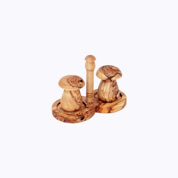 Salt and Pepper mushroom-olive-wood-satix