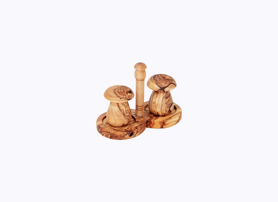 Salt and Pepper mushroom-olive-wood-satix
