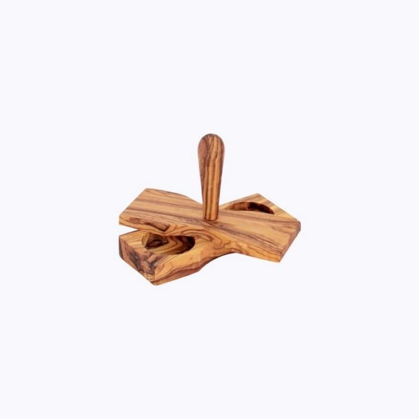 Salt and Pepper Butterfly Shaped-olive-wood-satix