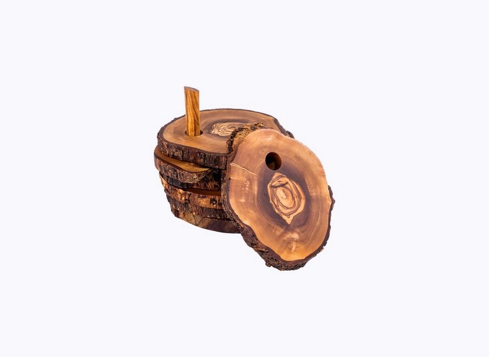 Trunc-Saucer-olive-wood-satix